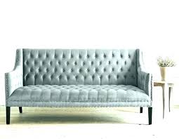 Grey Tufted Sofa Gray Leather  Velvet R71