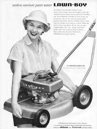 lawn boy lawn mower. lawn-boy lawn mower 1955 ad picture boy