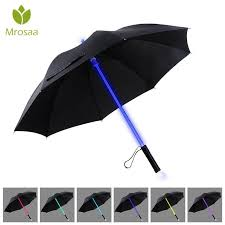 7 color led lightsaber light up umbrella jpg