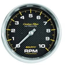 installing tachometer or water temp gauge auto meter 4898 carbon fiber air core in dash tachometer gauge