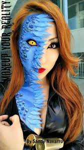 mystique from x men makeup took me 3 hours the idea here is mid