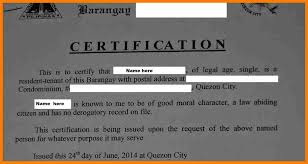 7 Certificate Of Good Moral Character Weekly Template