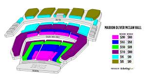 Mccaw Hall Seating Chart Seating Chart