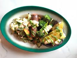 with tasty offerings like this seasonal vegetable plate at rally pizza it s tempting to keep
