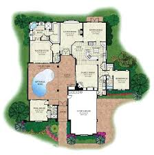 courtyard pool house plans