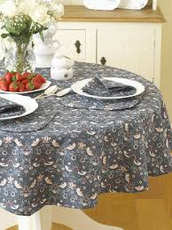 william morris strawberry thief 136cm 53 round fl cotton tablecloth