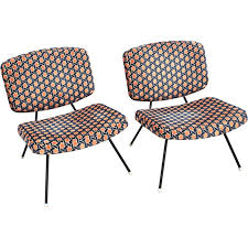 pair of cm190 low chairs by pierre paulin for thonet 1960s