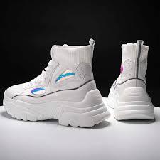 <b>2019 New</b> Spring Platform Sneakers <b>Fashion Ladies</b> Causal Shoes ...