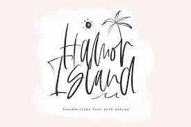 Script Designs Hamor Island Handwritten Script Font With Extras By Ka