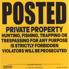 gempler s posted private property no hunting sign