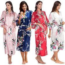 plus size silk robe plus size silk wedding party bride bridesmaid robe women floral