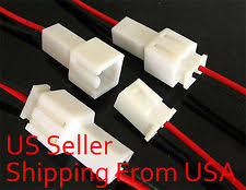 10pcs large 2pin terminal lead wire harness jack and plug 2 pin 10 pairs power jack plug 2 pin wire socket connector lead 300mm
