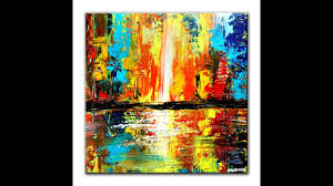 beginner abstract painting techniques abstract cityscape dranitsin