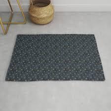 indigo and olive green rug