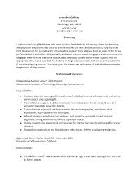 Sample Dance Resume From Performing Arts Template Lovely How To