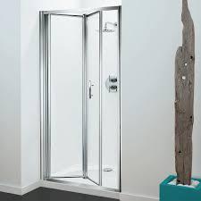 coram premier bi fold shower door 1000mm wide 4mm plain glass
