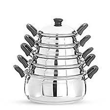 Buy Pigeon Kitchen Star Stainless Steel Cook and Serve Handi <b>Set</b> ...