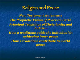 religion and peace religion