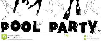 pool party clipart black and white. Simple Black Pool Party Clipart Inside Party Clipart Black And White U