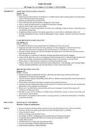 Reconciliation Analyst Sample Resume Reconciliation Analyst Resume Samples Velvet Jobs 1