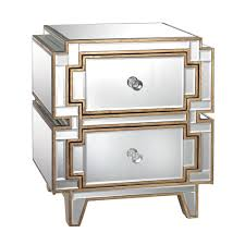 gold end table. Titan Lighting Hollywood Mirrored And Gold End Table N