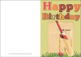 Happy Birthday Card Printable Template Happy Birthday Card With Cricket Free Printable Papercraft