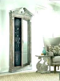 wall mount jewelry armoire with mirror mounted45