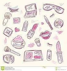 makeup tools drawing. royalty-free stock photo. download cosmetics. makeup tools drawing