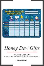 Honey Dew Gifts Bedtime Routine Reward Star Chart Checklist