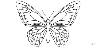 Printable Butterflies Coloring Pages Monarch Butterfly Template ...