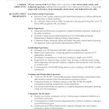 Resume Examples Of Objectives Police Officer Resumes Police Of Resume Example Awesome Resume