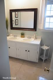 Paint A Bathroom Countertop Before After My Pretty Painted Bathroom Vanity