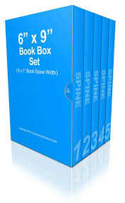 6 x 9 inches multi book box set mockup photo cover actions