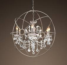 chandelier interesting orb with crystals ideas crystal plan 18
