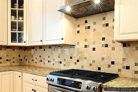 decoration glass tile insert beige cabinet kitchen backsplash designs