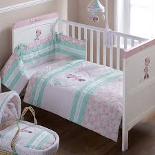 obaby disney minnie mouse cot cot bed quilt per set pink