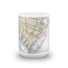 Shinnecock Bay Chart Tiana Bay Shinnecock Bay Chart Mug Chart Mugs