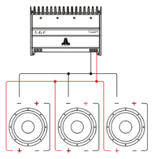 guide subwoofer wiring connecting the two voice coils of each driver in parallel to to and the drivers themselves in parallel will result