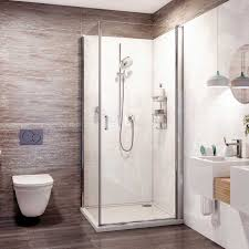 roman innov8 showers enclosures 800mm pivot door free delivery direct to your home on now