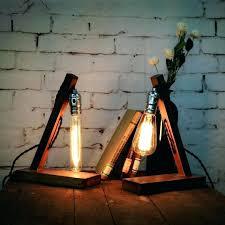 diy edison lamp desk lamp loft vintage industrial wood table light desk lamp cafe bar coffee