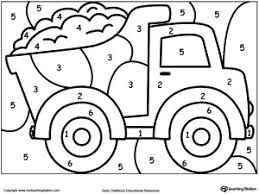 Small Picture Color By Number Truck Free coloring Worksheets and Learning
