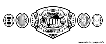 Small Picture wwe championship belt Coloring pages Printable