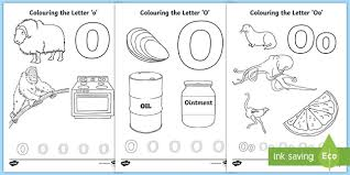 When your kid is coloring his alphabet coloring pages you can talk with him about taste if the object is fruit, about size if the object is elephant. Letter O Colouring Pages Teacher Made