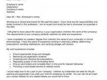 Cover Letter For Pharmacist Resume Pharmacist Cover Letter Sample