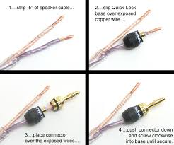 speaker wire quick connect more information speaker wire quick connect speaker wiring diagram
