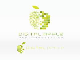 apple logo vector. digital apple logo vector