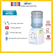 Cây nước nóng lạnh để bàn mini Nhập Khẩu FUJIE WD1080E, bình lọc máy lọc  nước nóng lạnh mini uống công nghệ Nhật Bản
