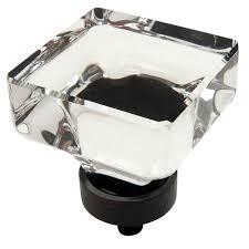 black glass cabinet pulls. 5303-ORB Black Glass Cabinet Pulls