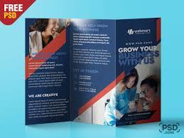 Trifold Brochure Design Psd Template Psd Zone