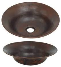 copper bowl sink. Unique Copper FLV13Hammered Flared Vessel Copper Bowl Throughout Sink